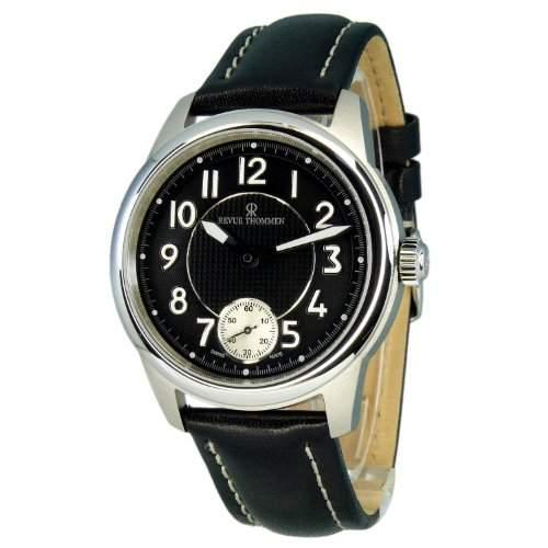 REVUE THOMMEN Herren-Armbanduhr 160643531 Analog leder schwarz 160643531