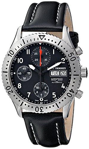 Revue Thommen Herren 16007 6135 Airspeed Classic Automatic Blue Dial Uhr