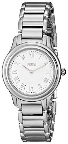 Fendi Classico Damen 26mm Silber Edelstahl Armband & Gehaeuse Uhr F251024000