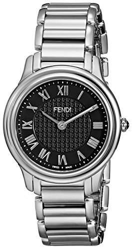 Fendi Classico Damen 32mm Silber Edelstahl Armband & Gehaeuse Uhr F251031000