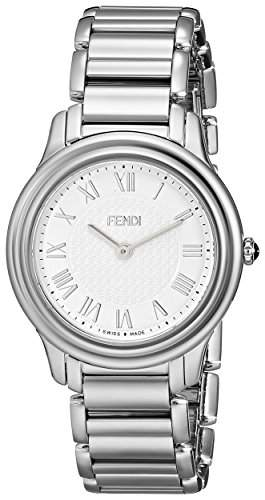 Fendi Classico Damen 32mm Silber Edelstahl Armband & Gehaeuse Uhr F251034000