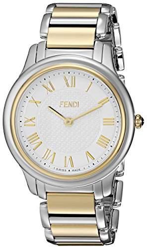 Fendi Classico Herren 40mm Silber Edelstahl Armband & Gehaeuse Uhr F251114000