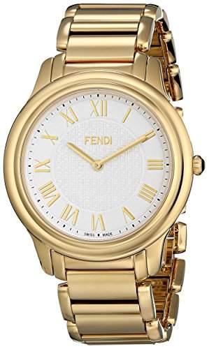 Fendi Classico Herren 40mm Gold Edelstahl Armband & Gehaeuse Uhr F251414000