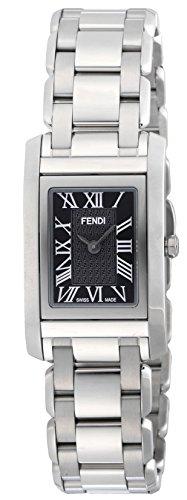 Fendi Armbanduhr Schlaufe Schwarz Zifferblatt f779210 Damen