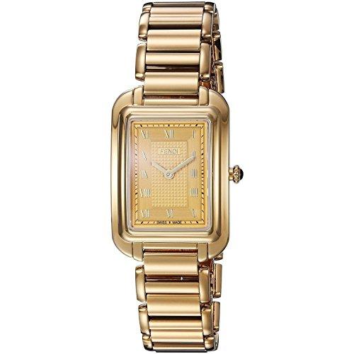 Fendi Armband Edelstahl Gold Gehaeuse Entspiegeltes Saphir Quarz Analog F701435000
