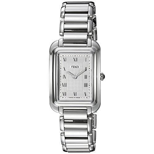 Fendi Armband Edelstahl Gehaeuse Schweizer Quarz Zifferblatt Silber Analog F701036000
