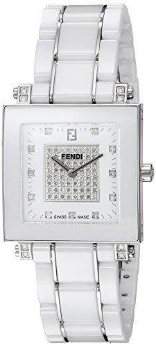 Fendi 18mm Armband Keramik Weiss Gehaeuse Schweizer Quarz Analog F626140DPDC