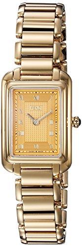 Fendi Armband Goldfarbenes Edelstahl Gehaeuse Schweizer Quarz Analog F701425000