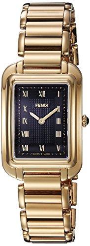Fendi Armband Goldfarbenes Edelstahl Gehaeuse Schweizer Quarz Analog F701431000