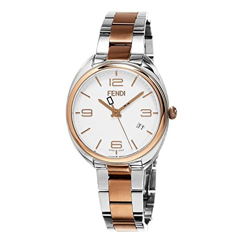 Fendi Momento Damen Armbanduhr 34mm Armband Zweifaerbiger Edelstahl Multicolor Schweizer Quarz F211234000