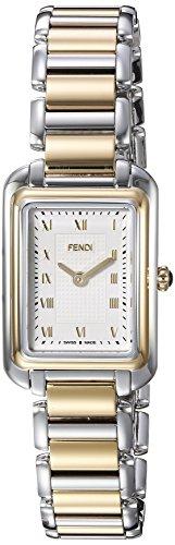 Fendi Armband Zweifaerbiger Edelstahl Schweizer Quarz Zifferblatt Silber Analog F701124000