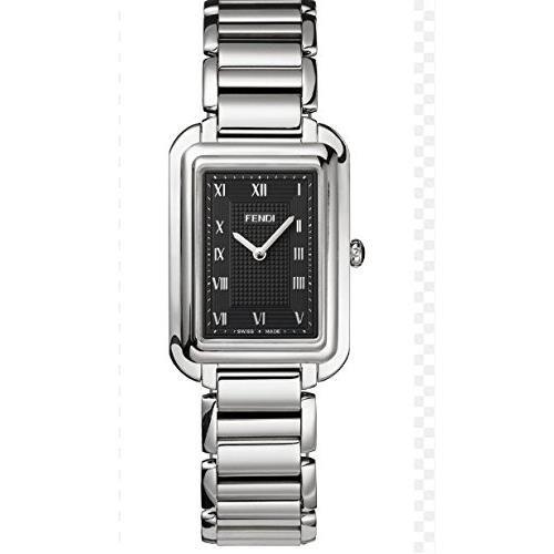 Fendi Armband Edelstahl Gehaeuse Schweizer Quarz Zifferblatt Schwarz Analog F701011000