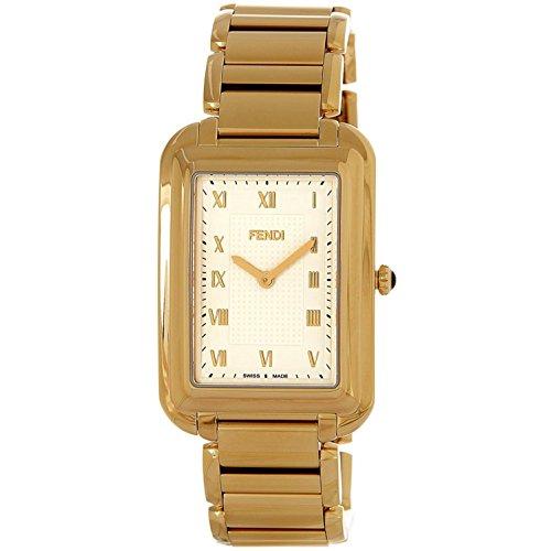 Fendi Armband Goldfarbenes Edelstahl Gehaeuse Schweizer Quarz Analog F701414000