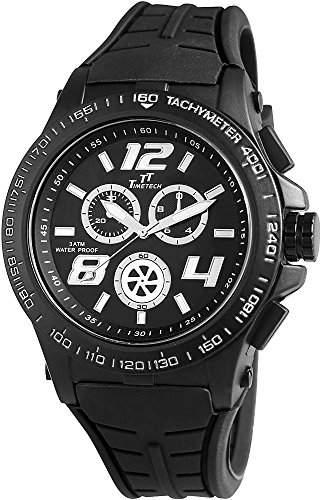 Shaghafi Herren-Armbanduhr XL Analog Quarz Kautschuk 227471000005