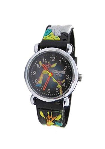 Persopolis Kinderuhr Armbanduhr mit Kautschukarmband Tiermotive