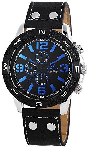 Shaghafi Herren Armbanduhr XL Analog Quarz verschiedene Materialien 227421100018