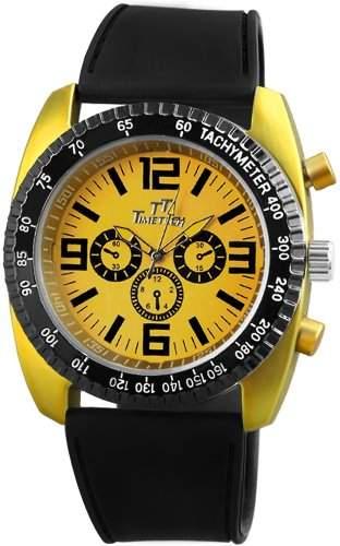 TimeTech Herren-Armbanduhr XL Analog Quarz verschiedene Materialien 227224000001