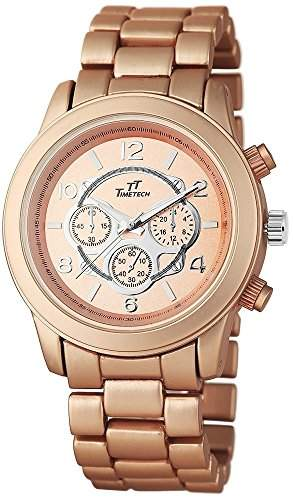 TimeTech Unisexuhr mit Metallarmband Armbanduhr Uhr Kupfer 227545500002