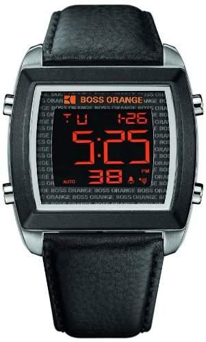 Boss Orange Herren-Armbanduhr Digital Leder 1512609