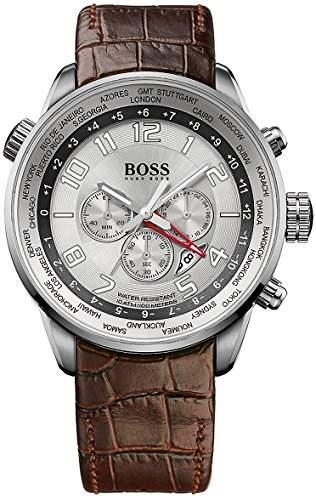 Hugo Boss Herren-Armbanduhr Chronograph Quarz Leder 1512739
