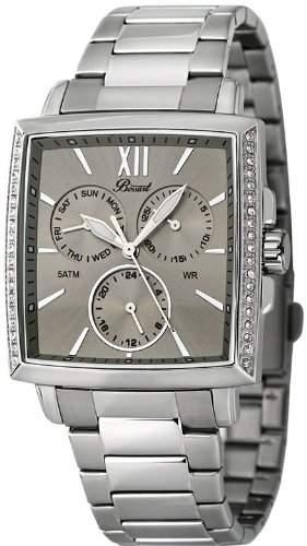 Bossart Watch Co Square-Glam BW-1101-CH-BRC Armbanduhr fuer Sie Mit Kristallsteinen