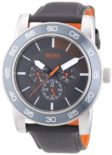Boss Orange XL Kick Off Analog Quarz Leder 1512863