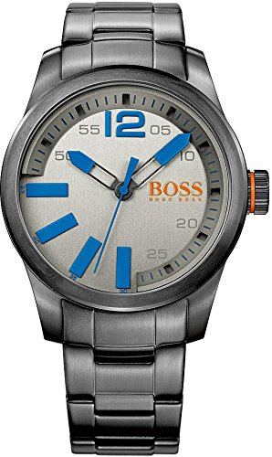 BOSS Orange XL Paris Analog Quarz Edelstahl beschichtet 1513060