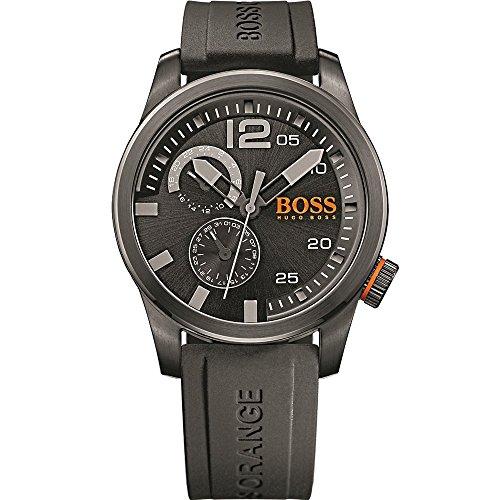 Boss Orange Mens Watch Paris Analogue Quartz Silicone 1513147