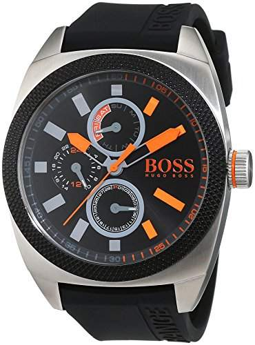 BOSS Orange Herren-Armbanduhr LONDON XXL Analog Quarz Silikon 1513244