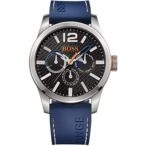 BOSS Orange Herren-Armbanduhr PARIS Multieye Analog Quarz Silikon 1513250