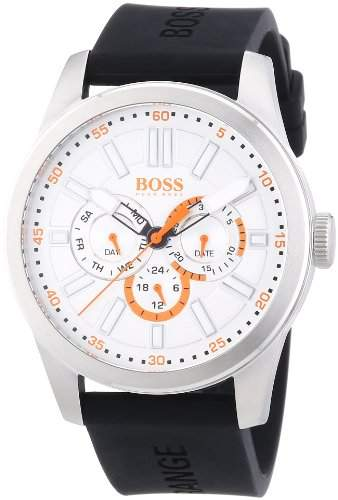 Boss Orange Herren-Armbanduhr XL Big Up Multieye Analog Quarz Silikon 1512934