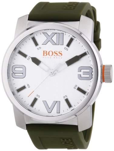 BOSS Orange Herren-Armbanduhr XL Dubai Analog Quarz Silikon 1512988