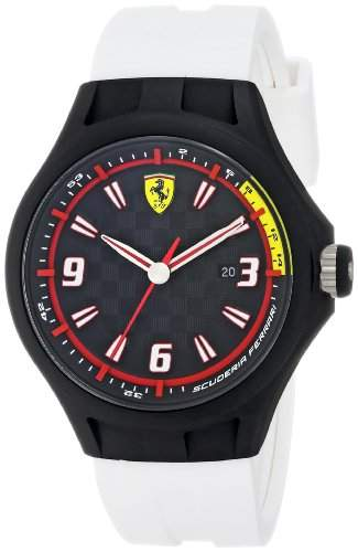Scuderia Ferrari Herren 0830004 Analog Display Japanese Quartz White Armbanduhr