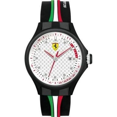 Ferrari Herren-Armbanduhr XL Analog Quarz Silikon 830008