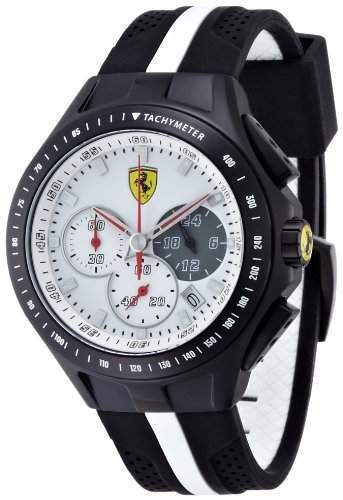 Ferrari Herren-Armbanduhr XL Analog Quarz Silikon 830024