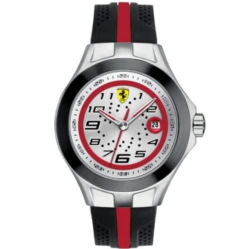 Ferrari Herren-Armbanduhr XL Analog Quarz Silikon 830021