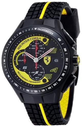 Ferrari Herren-Armbanduhr XL Analog Quarz Silikon 830078