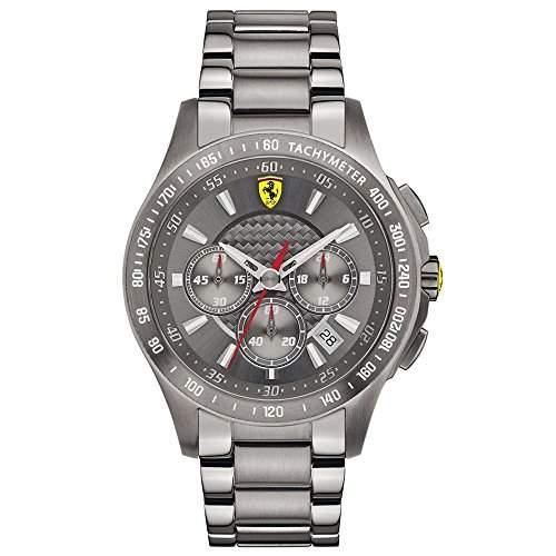 Ferrari Herren-Armbanduhr XL Analog Quarz Edelstahl beschichtet 830096