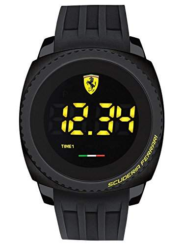 Ferrari Herren-Armbanduhr AERO TOUCH Digital Touch Screen Digital Quarz Silikon 0830229