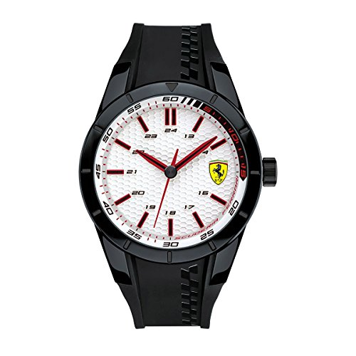 Ferrari Herren RED REV EVO Analog Casual Quartz Reloj 0830300