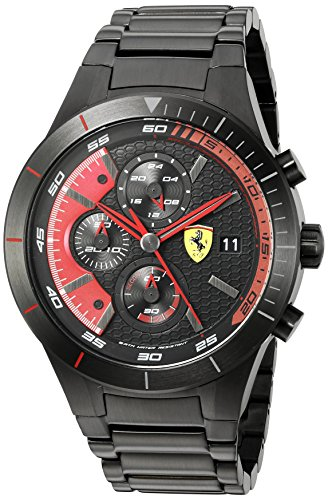 Ferrari Herren RED REV EVO Analog Dress Quartz Reloj 0830264