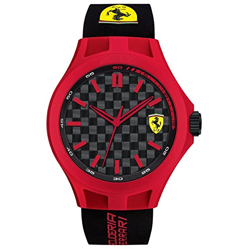 Ferrari Gehaeuse Silikon Quarz Zifferblatt Schwarz Analog 0830287