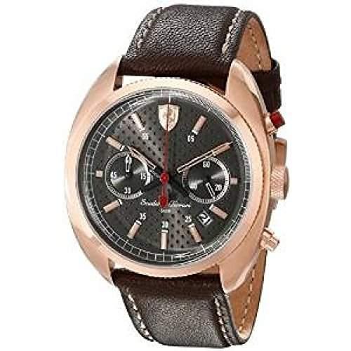 Ferrari Herren-Armbanduhr FORMULAR SPORTIVA Chrono Analog Quarz Leder 0830210