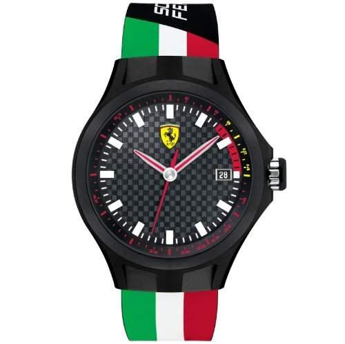 Scuderia Ferrari 830131 Pit Crew Uhr Herrenuhr Kautschuk Kunststoff 50m Analog Datum schwarz