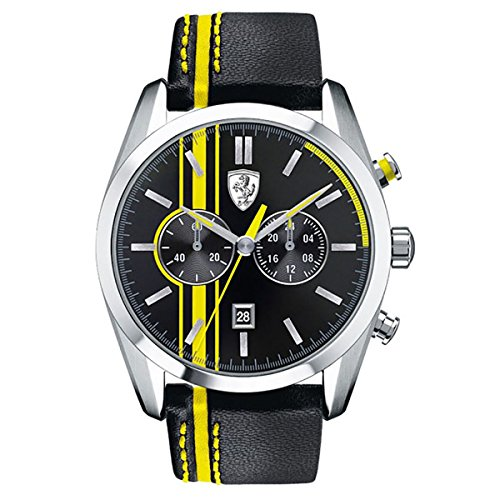 Ferrari Herren Scuderia Sport Chrono Analog Dress Quartz Reloj 0830235
