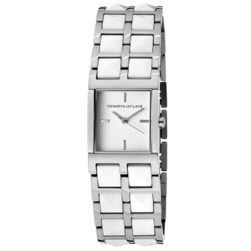 Damen White Dial Stainless Steel and White Resin