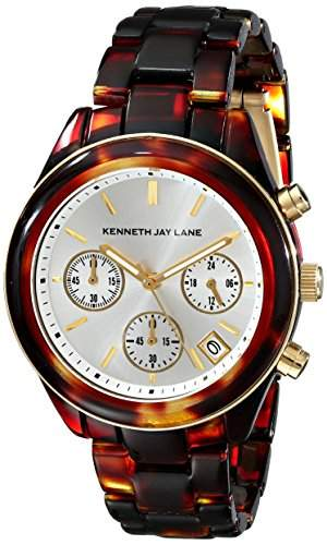 Kenneth Jay Lane 4000 Series Damen-Armbanduhr 38mm Chronograph Harz Quarz 4001
