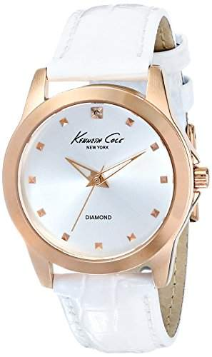 Kenneth Cole New York Damen KC2857 Rock Out Analog Display Japanese Quartz White Armbanduhr