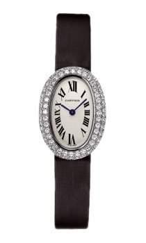 Cartier Damen-Armbanduhr Analog Schwarz CWB509531