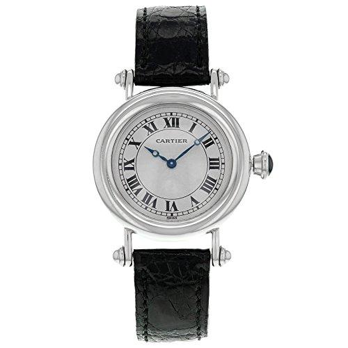 Cartier Diablo 1463 1 Platinum aufziehbar mittlere Damen Armbanduhr